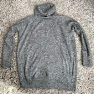 Cowl Neck Oversized Tunic Sweater